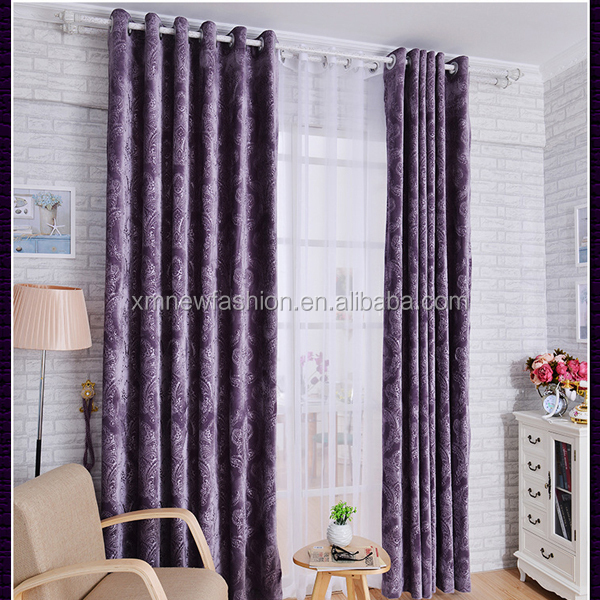 Elegant Dubai Velvet Drapes Curtains For Bed Room Fancy And
