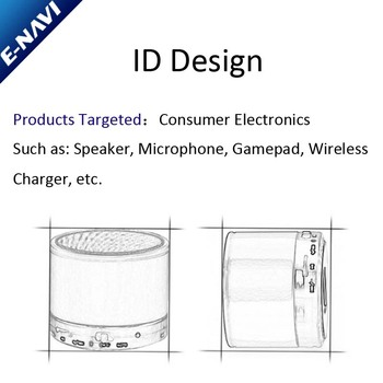 ID Design For Mini Speaker/Microphone / Wireless Charger /Gamepad Under Your Demands
