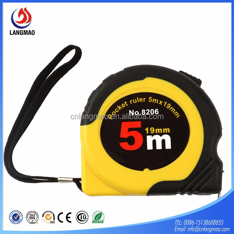 red color exellent rubber jacket ABS material steel measure tape,tape measure,steel measure tape tool