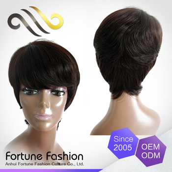 Short human hair wigs for black women consider, that