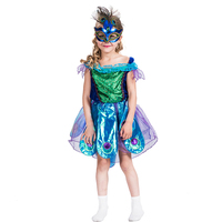 Children Girls Peacock Carnival Tulle Costume masquerade Party Dress for kids