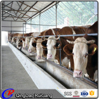 cheap prefab steel structure cow farm cattle shed dairy barn building