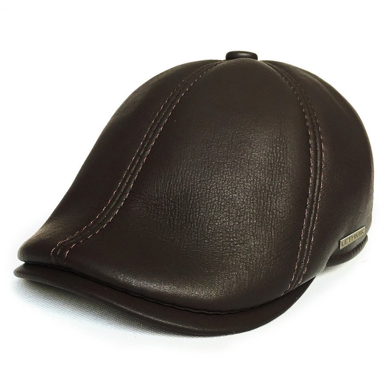 f4da006058c lethmik Leather Flat Hat Gatsby newsboy Cap Cabbie IVY Irish Hats Driver  Hunting
