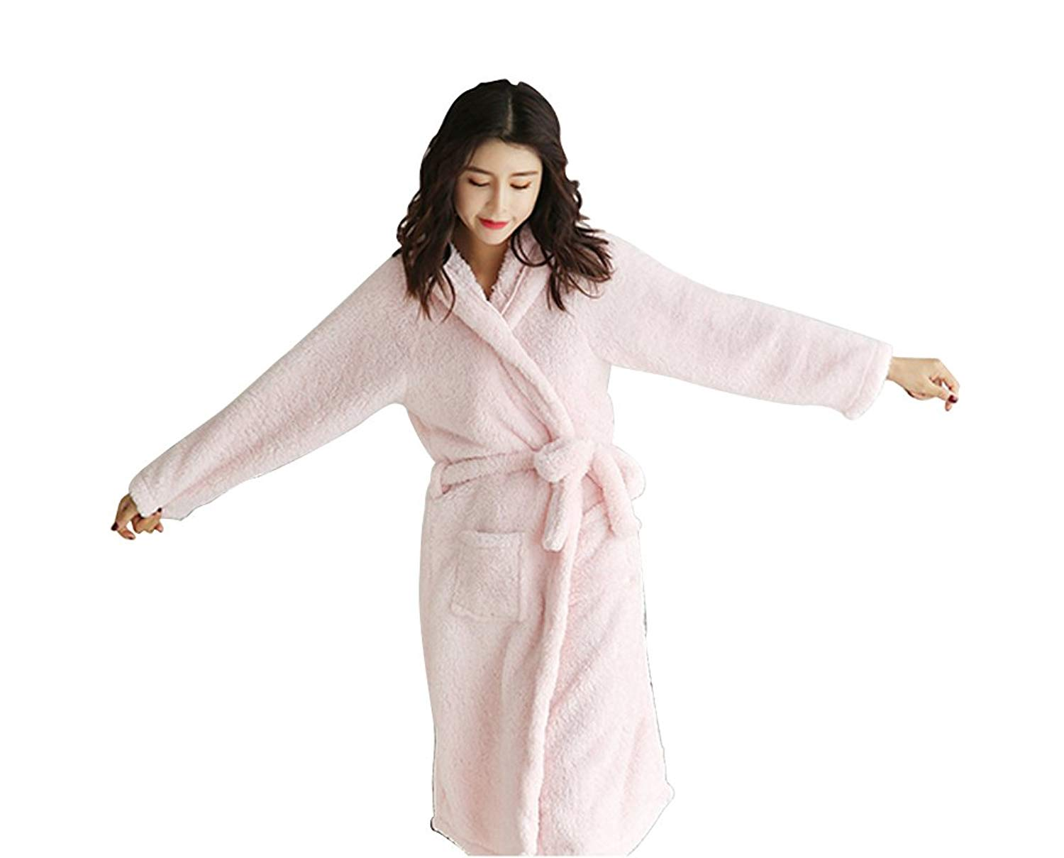 1fd1d5e18068b Get Quotations · FloYoung Cartoon Rabbit Ear Bathrobe Nightgown Pyjamas  Hotel Spa Dress Sleepwear