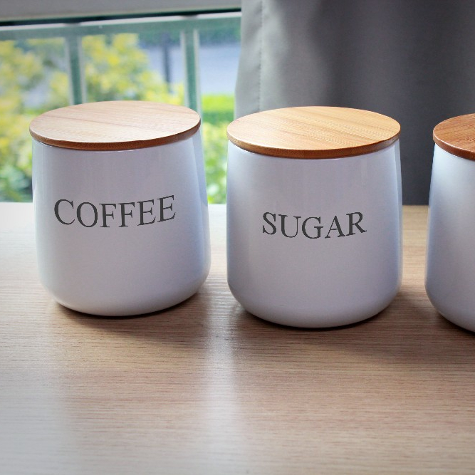 Sugar Coffee Tea Canister Sets With