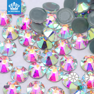 Free Shipping factory supply crystal AB color 16 cut facets flat back hot fix rhinestones 1440pcs/bag SS20(4.6mm to 4.8mm)