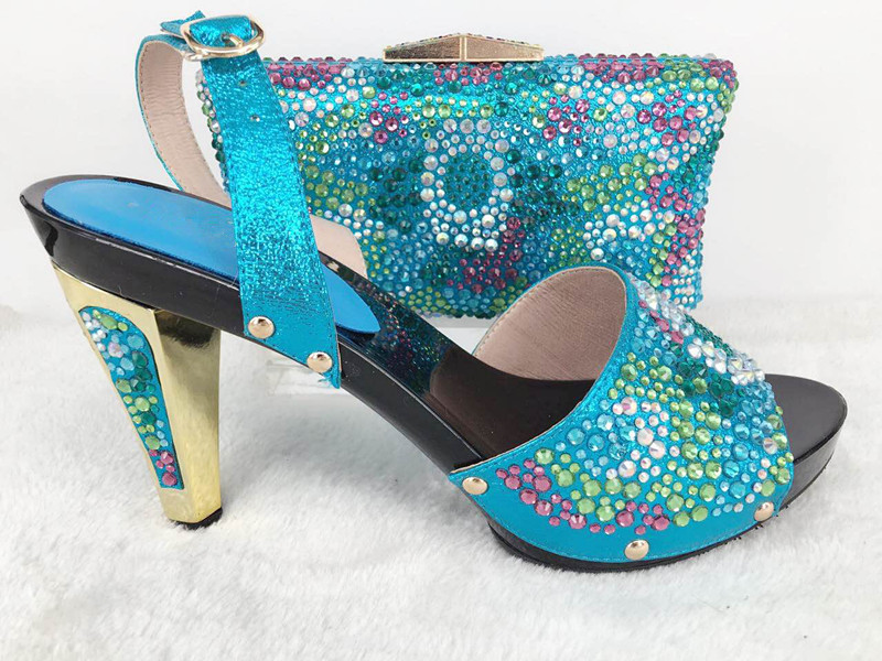 and bag and Turquoise shoes to African shoes set bag match party q0anA