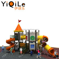 Happy playing outdoor playground entertainment for children
