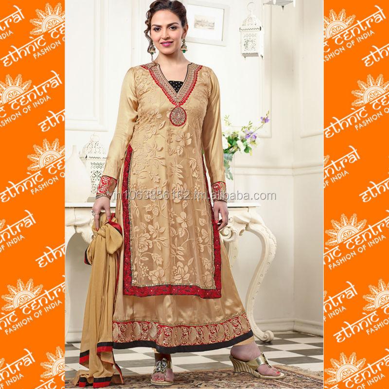 Pakistani Stitched Banarsi Kurta With Rajistani Lace Women's Clothing