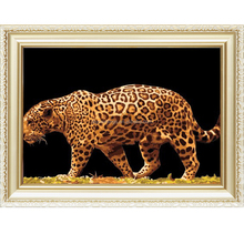 Factory supply wild animal pattern diy oil painting by numbers