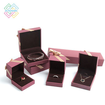 Factory Custom Jewelry Gift Packaging Paper Box With Bow Decoration