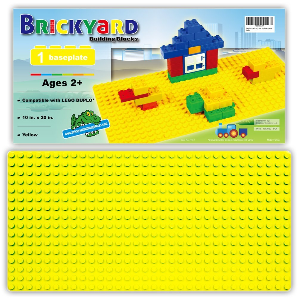 Compatible Baseplates for Large Building Blocks by Br... Sonstige Large 10 in. x 20 in.