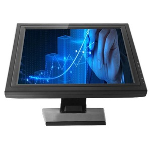 Best Price Optional Pors VGA HD Data Resistive LCD 15 Inch Touch Screen Monitor
