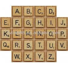 Number Wooden Scrabble Tiles