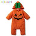 0 18Months Autumn Winter Newborn Rompers Kids Clothes Cartoon Fleece Halloween Baby Jumpsuits Infant Boys Girls