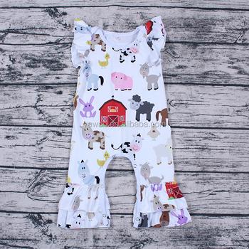 621f26121 Hot summer baby girls cartoon cow print clothes toddler girls romper ...
