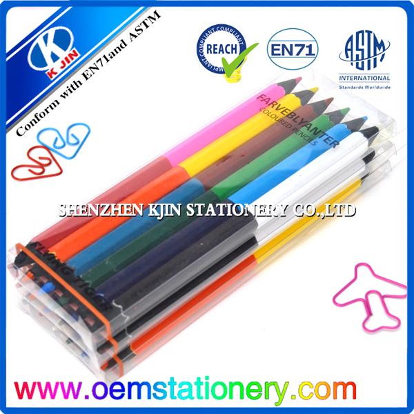 2017 High Quality Double Color Pencil With Oem Design