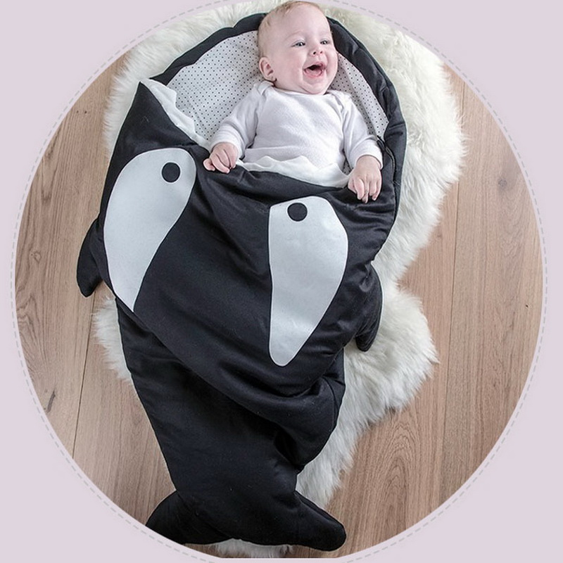 Hot Sale Cute Cartoon Shark Baby Sleep Bag Winter Baby Sleep Sack Warm Baby Blanket Warm