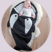 Hot Sale Cute Cartoon Shark Baby Sleeping Bag Winter Baby Sleeping Sack Warm Baby Blanket Warm