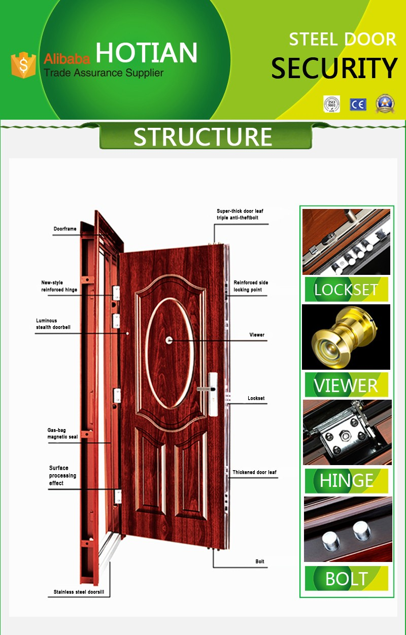 Exterior Security Double Steel Door Stainless Safety Price Philippines
