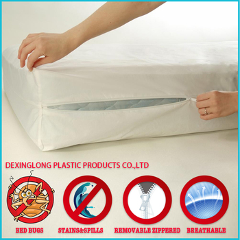 Plastic Mattress Covers Bed Bug Protection Branding With