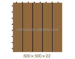 500*500*22mm recycled WPC decking floor,DIY wpc engineered flooring,Durable high density HDPE outdoor flooring