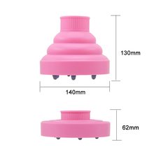 Foldable Silicone Collapsible Travel Hot Tool Silicone Hair Dryer Diffuser