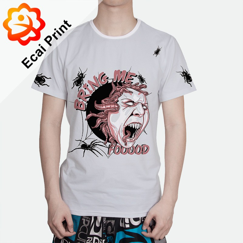High quality hot style sublimation custom design digital printing tee shirt