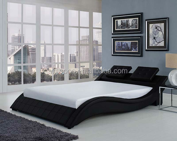 Latest Headboard Cushion Design Double Size Pu Soft Bed 1880
