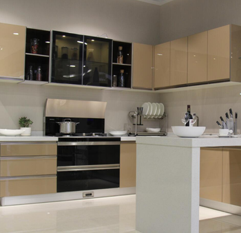 Stainless steel kitchen cabinet with frosted glass kitchen cabinet doors,  View kitchen cabinet doors, Prima Product Details from Shenzhen Prima ...