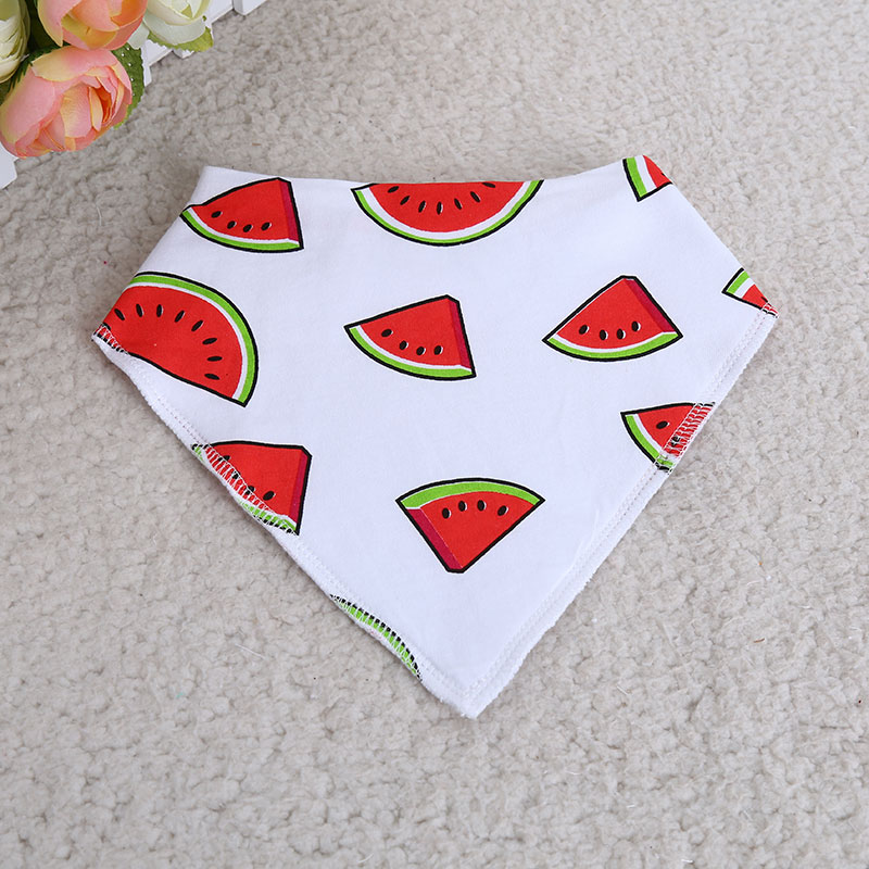 wholesale unisex 4-pack absorbent knit cotton baby bandana drool bibs