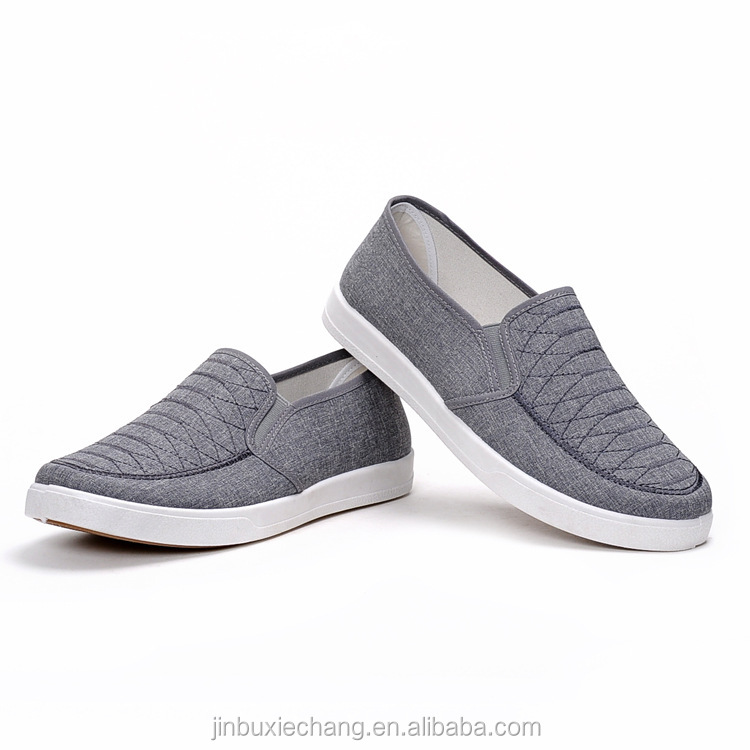 2018 fashion new casual embrodiered shoes men canvas loafer shoes made in china