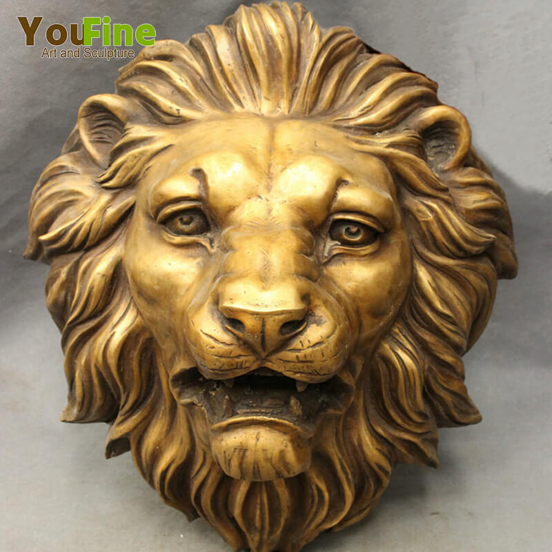 Wall Decorative Metal Crafts King Lion Head Sculpture