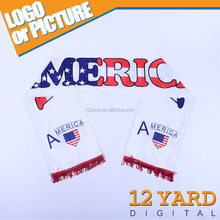 High quality Printed USA America flag Brand Breakaway sport headware Scarf with Tassels