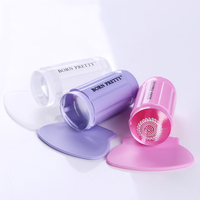 BORN PRETTY Transparent Jelly Stamper Nail Art Stamper Pebble Silicone Stamper & Scraper Stamping Nail Tools