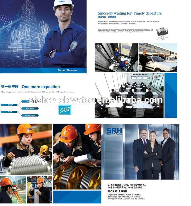 450kg En81 Standard Elevator China Supplier