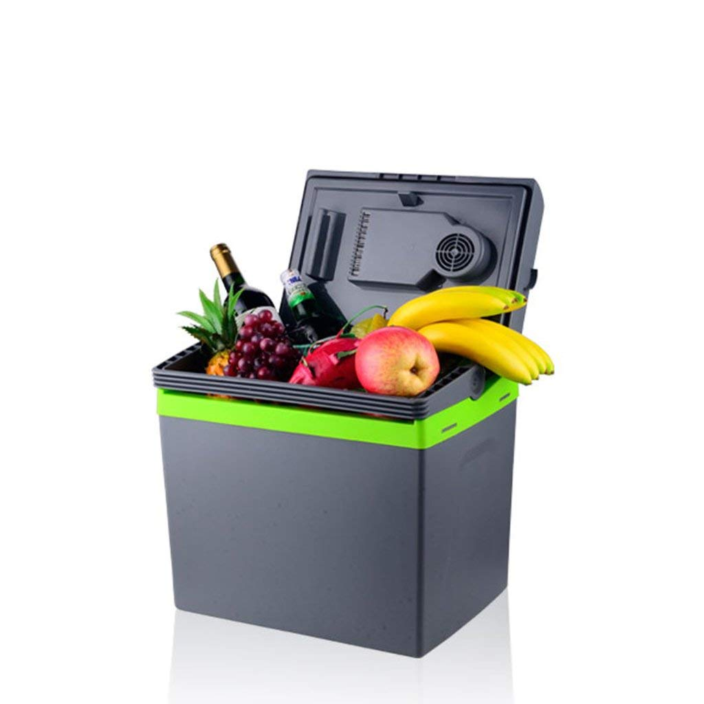 Peaceip Car refrigerator 25L/30L Small refrigerator 12v220v Outdoor car Household Refrigerated drinks Fruit (Color : 25L)