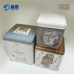 3 Pieces CMYK Printing Square Tin Box Set For Packaging
