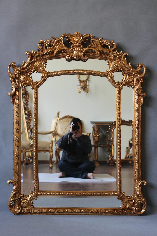 Dekorative Antike Gerahmte Spiegel Für Innenwand Spiegel Und Kamin ...