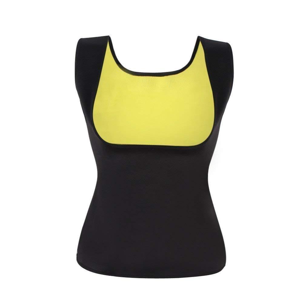 12c375ffc8 Get Quotations · Women s Hot Sweat Body Shaper Tummy Fat Burner Slimming Vest  Weight Loss Shapewear Neoprene No Zip