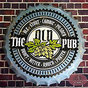 T-ray 35cm The Old PUB Retro Metal Tin Signs Tin Plaque Advertising Shop Bar pub Garage Wall Decor RM-34