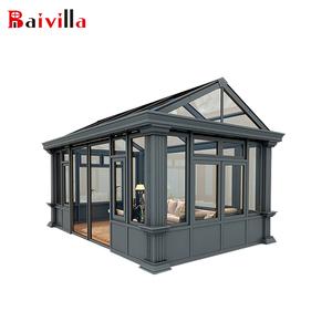 Waterproof Aluminum Glass House Prefabricated Lowes Solarium Sunroom