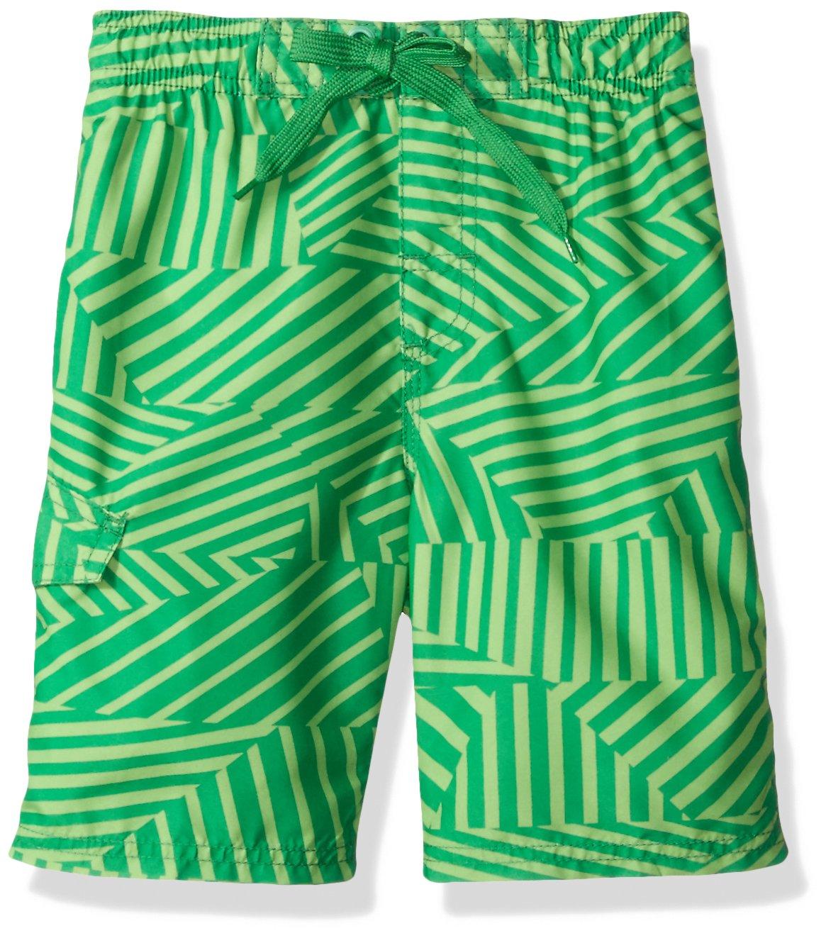23723ec52a2af Get Quotations · Kanu Surf Boys' Static Geo Quick Dry Beach Board Shorts  Swim Trunk