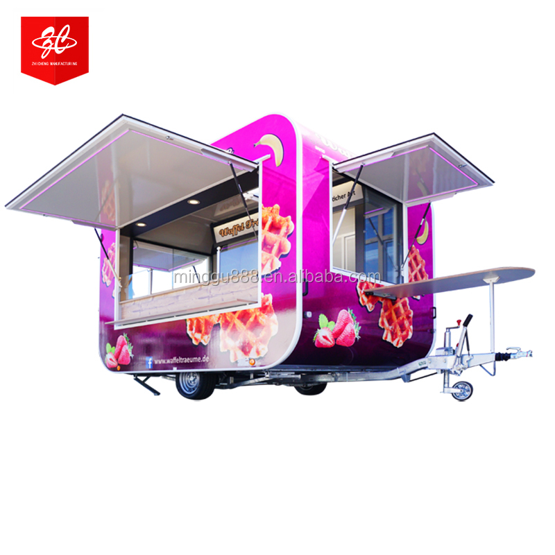 most Popular Shanghai Factory Pricefast food vending carts/food vending carts for sale in france