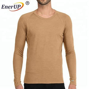 New blank merino wool t shirt Men's Under Base Layer Long Sleeve T-Shirts
