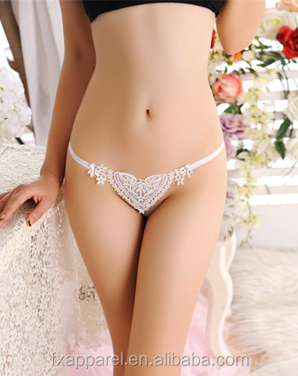 Multicolor jacquard heart shape g-string sexy womens underwear