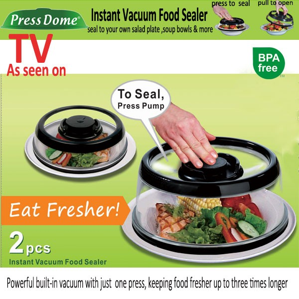 press and fresh plate topper vacuum food sealer lid qvc tv hot products innovative gift set buy new year gift set new household gift set2016