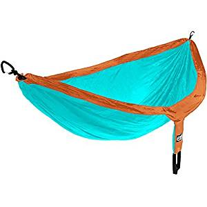 ENO Eagles Nest Outfitters - DoubleNest Hammock, Portable Hammock for Two, Copper/Aqua