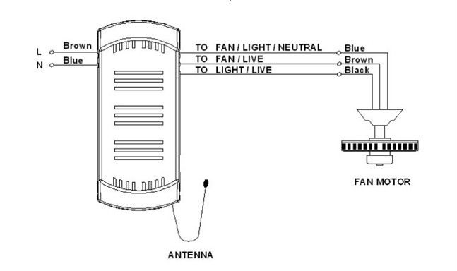 Wiring Ceiling Fan Speed Switch With Rf Receiver