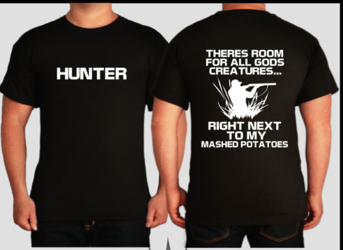 f9d9cd077c008 Hunting T Shirt men kangaroo fox duck pig boar wild game hunter funny  printed casual tee US plus size S-3XL